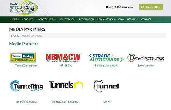 World Tunnel Congress Media Partners