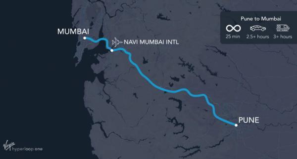 India hyperloop route